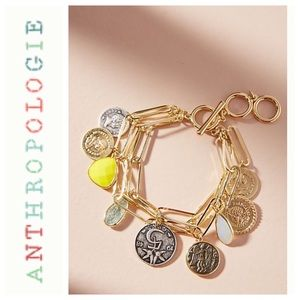 Anthropologie charm bracelet